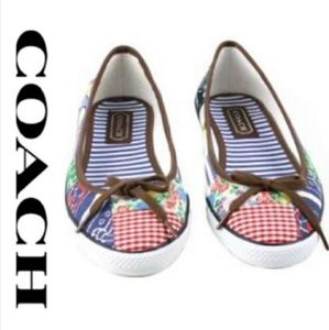 Coach Marie Patchwork Slipon Flats Sneaker Shoes